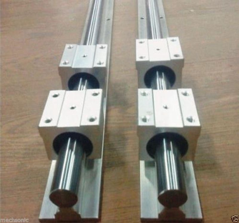 2 set of SBR16 500mm full supported linear rail shaft rod +4 SBR 16UU NE