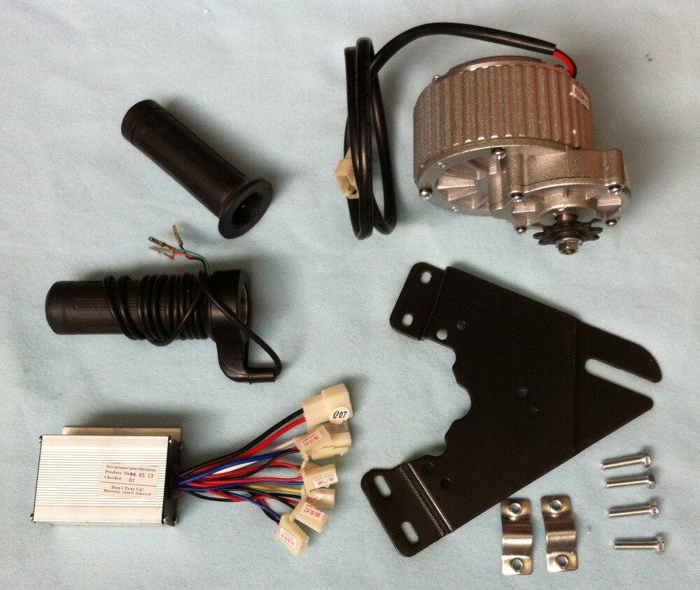 MY1018 450 W 36 V motor da escova de engrenagem com Controlador de Motor e Torção Do Acelerador, Kit DIY Bicicleta Elétrica,