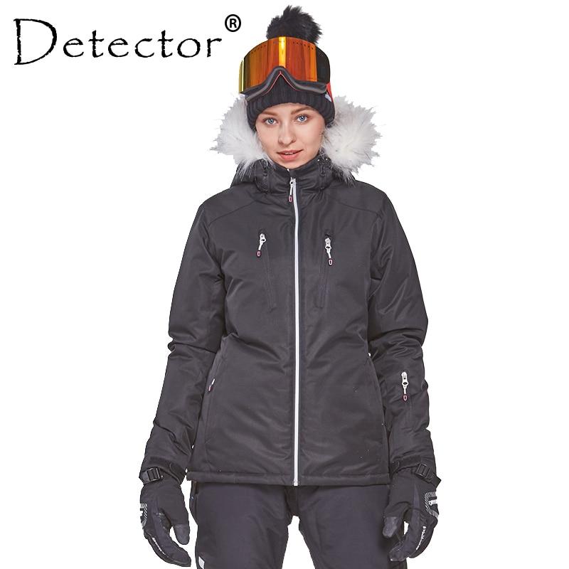 detector women s winter ski snowboard jacket waterproof windproof coat outdoor ski clothing women warm clothes Detector Women's Winter Ski Snowboard Jacket Outdoor Ski Clothing Women Waterproof Windproof Fur Coat Warm Clothes