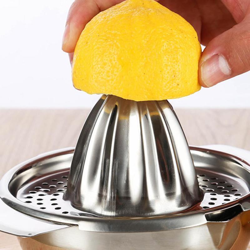 Mini exprimidor de zumo de naranja y de limón de Manual de acero inoxidable exprimidor a presión exprimidor de cítricos Mini electrodomésticos
