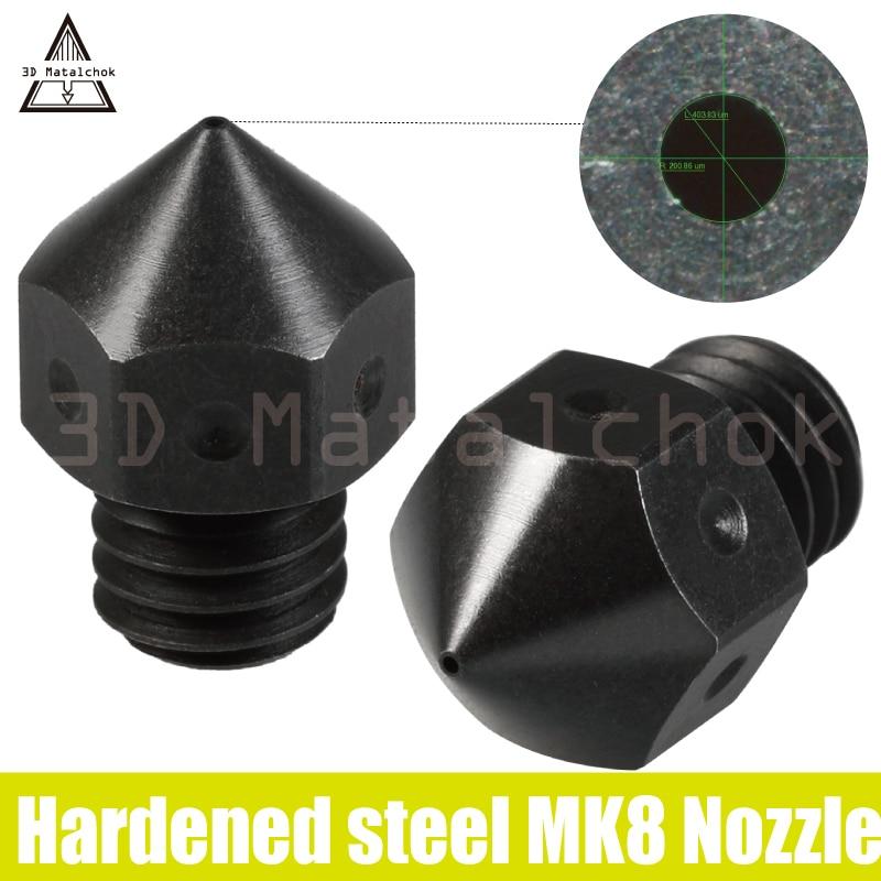 2 قطعة عالية درجة الحرارة Mk8 صلابة الفولاذ فوهة ل F/مايكرو السويسري Anet A6 A8 E10 E12 Creality Cr-10 enderr 3 Prusa I3