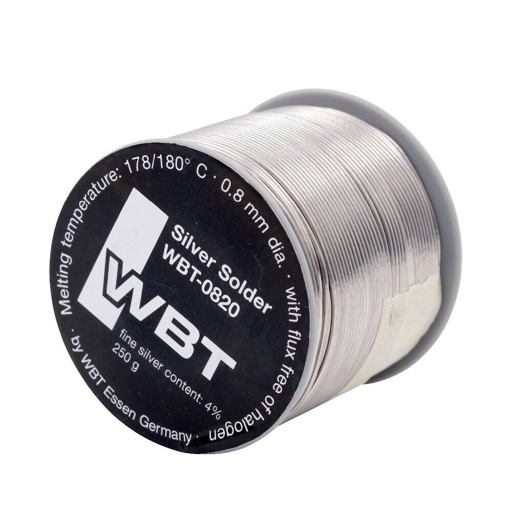 SOLDER New Original Germany WBT-0820 High End Silver Solder Wire 0.8mm 4% Ag Silver Audio HiFi DIY Project Good Quality