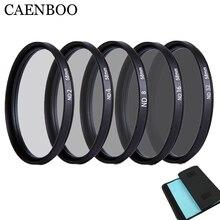 CAENBOO 55mm Lens ND Filter ND2 4 8 16 32 Lens Protector Neutral Density 58mm ND16 ND32 Lens Filter Bag For Canon Nikon Camera