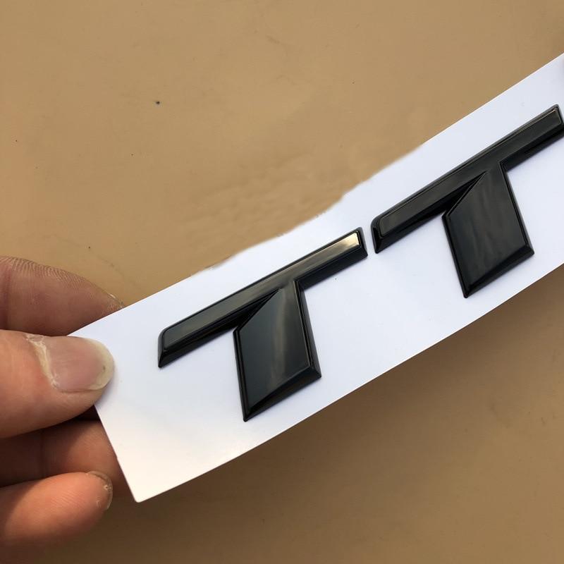 Глянцевый черный хром Серебряный S RS TT TTS TTRS Эмблема для стайлинга автомобиля Наклейка на багажник логотип для Audi TT спортивный автомобиль Вы...