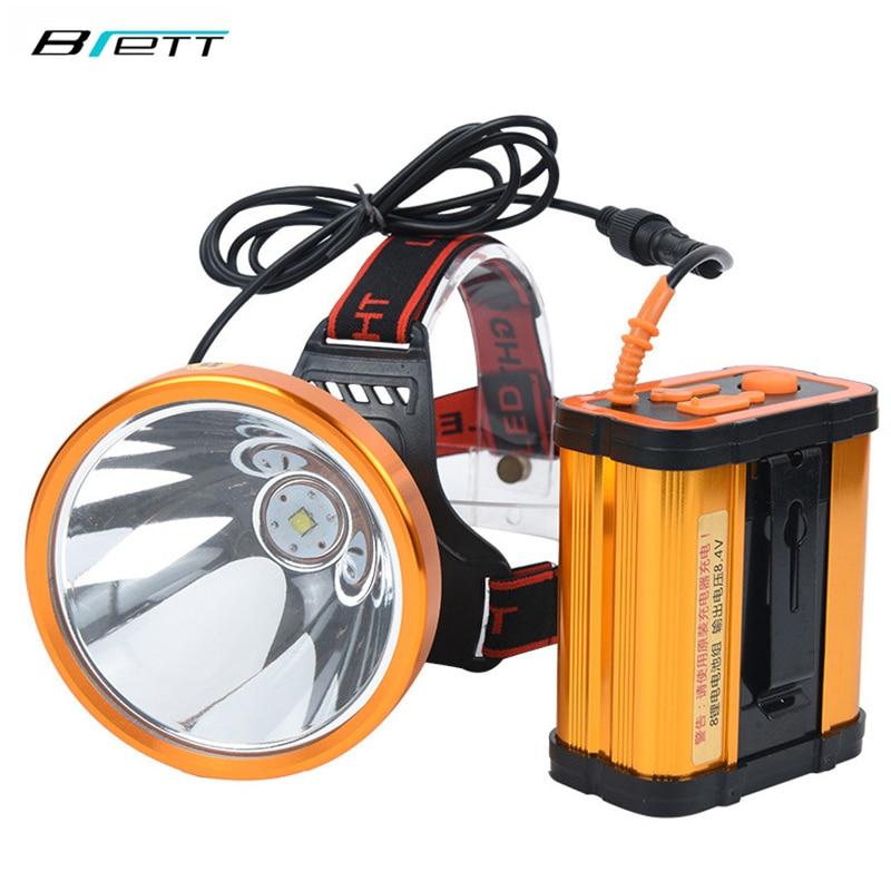 Headlamp CREE XHP70 Super bright White or yellow light optional Built-in 8*18650 battery rechargeable led headlight enlarge