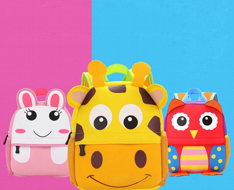 Pudcoco Animal Plush Backpack Toddler Kid Children Boy Girl 3D Cartoon School Bag Kindergarten