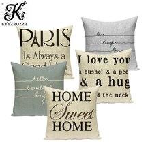 Cubierta de cojín estampada con letras, funda decorativa para almohada, funda de cojín para sofá, accesorios para asiento de coche, decoración textil para el hogar
