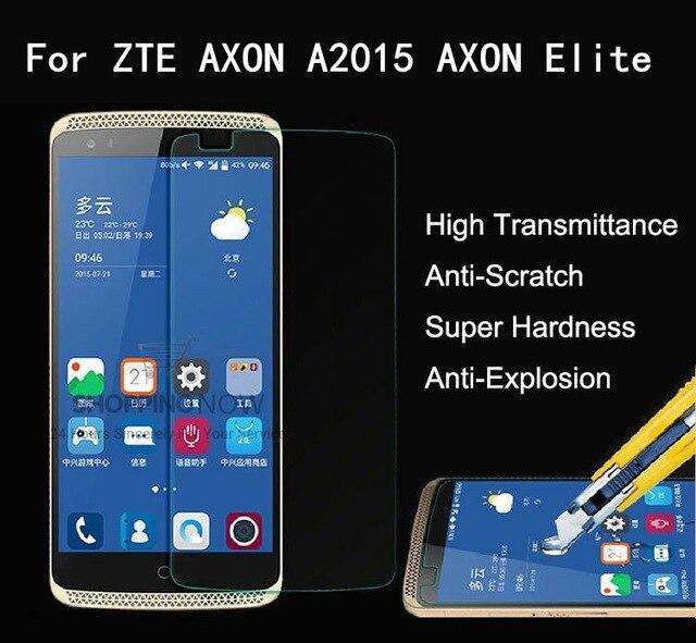 2.5D de Vidro Temperado Para ZTE AXÔNIO A2015 Película Protetora de Alta Qualidade Protetor de Tela à prova de Explosão-para AXÔNIO Elite cell telefone