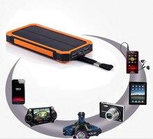 HK LiitoKala Lii-D001 Externe batterie portable solaire 12000 mAh Pour iPhone 6 6 S 7 Plus Chargeur de Batterie De Téléphone Pour Téléphone Samsung