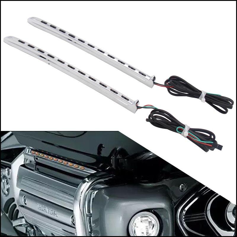 لهوندا جولدوينج GL1800 2001-2010 2002 2003 2004 2005 2006 2007 2008 2009 اليسار واليمين LED تشغيل هدية ضوء