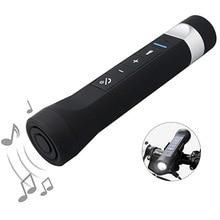 5 en 1 Portable lampe de poche LED avec haut-parleur Bluetooth USB chargeur batterie externe 2200mAh torche vélo Bluetooth haut-parleurs avec micro