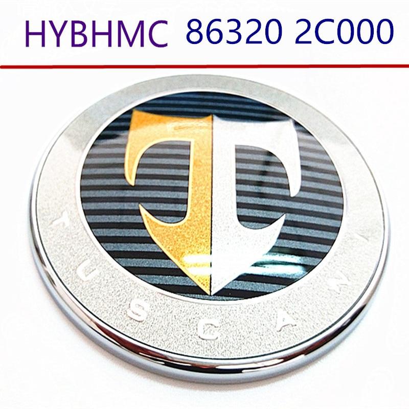 Emblema de logotipo T trasero para capó, insignias delanteras y traseras para capó, Logo de maletero, emblema de coche para hyundai Tiburon Coupe 2002-2008 863202C000