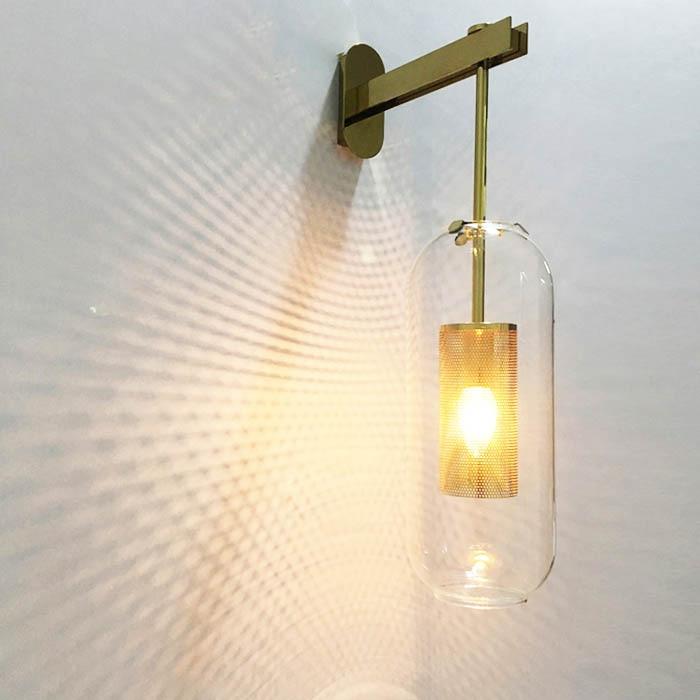 Foyer bedroom bedside corridor wall lamp modern molecule LOFT wall sconce bean glass ball wall light LED round ball wall lamp