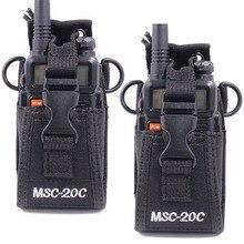 2Pcs MSC-20C Nylon Multi-Function Pouch Bag Holster Carry Case for Motorola TYT Baofeng UV-5R UVB3 Plus Walkie Talkie