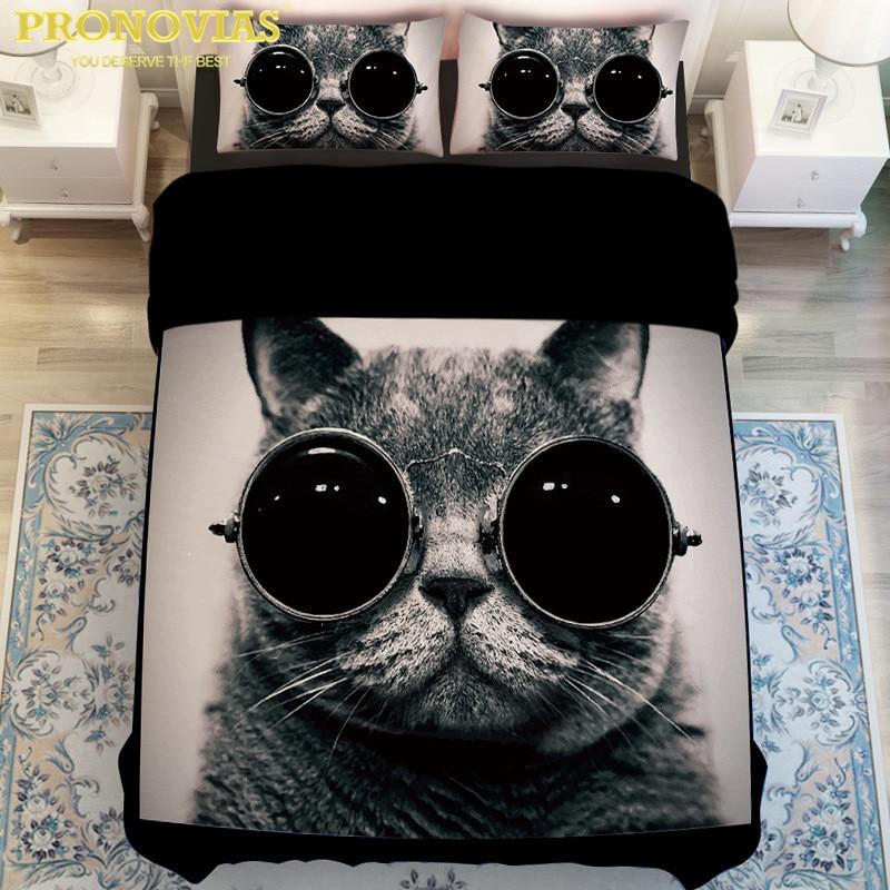Algodón coreano Digital 5D gato malo/León/elefante ropa de cama conjunto edredón cubierta hoja almohada funda king queen individual tamaño XL