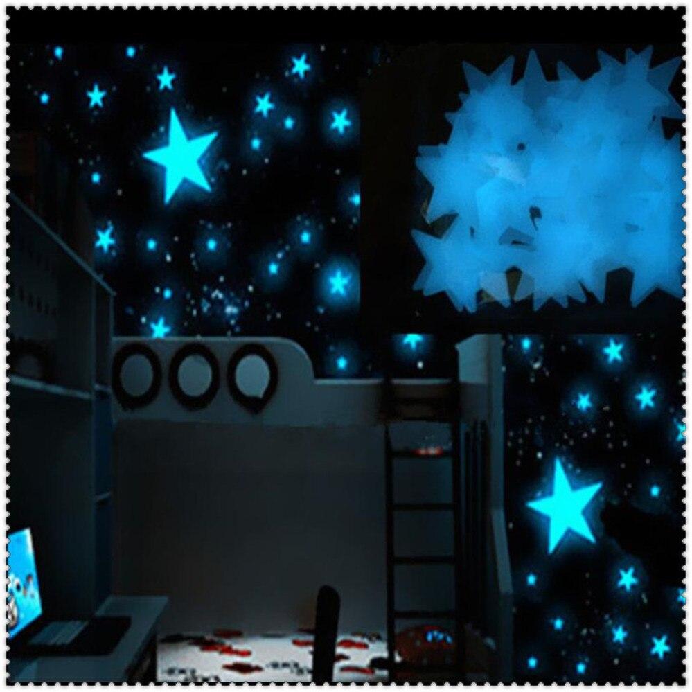Pegatinas de pared luminosas para Toyota 4Runner Sienna Sequoia Prius GR Camry i-tril COASTER highlander 100 uds, estrellas brillantes para coche