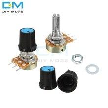 5 pièces WH148 résistance linéaire cône rotatif potentiomètre capuchon bouton 1 K 2 K 5 K 10 K 20 K 50 K 100 K 250 K 500 K 1 M Ohm pour Arduino Electronic