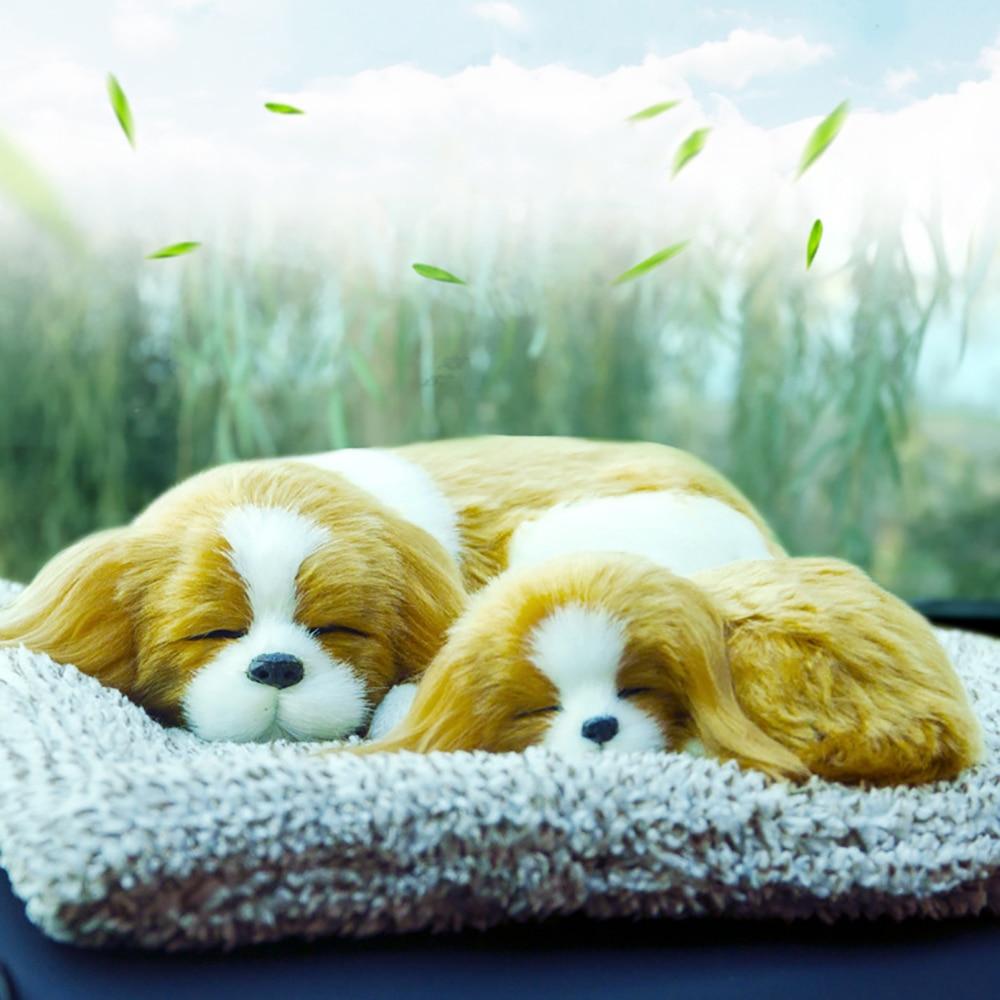 Decoración de coche perro vívido Madre y Chico ambientador de aire de carbón de bambú para el hogar purificador de aire de carbón activado Interior automático