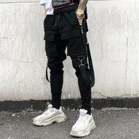 2020 New Fashion Streetwear Joggers Men Black Harem Pants Multi-pocket Hip Hop Mens Sweatpants Jogger Pants Men