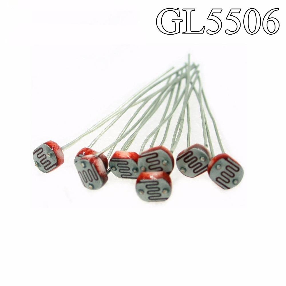 HAILANGNIAO 1000 قطعة صور ضوء الحساسة المقاوم Photoresistor Optoresistor 5 مللي متر GL5549 GL5539 GL5537 GL5528 GL5516 GL5506