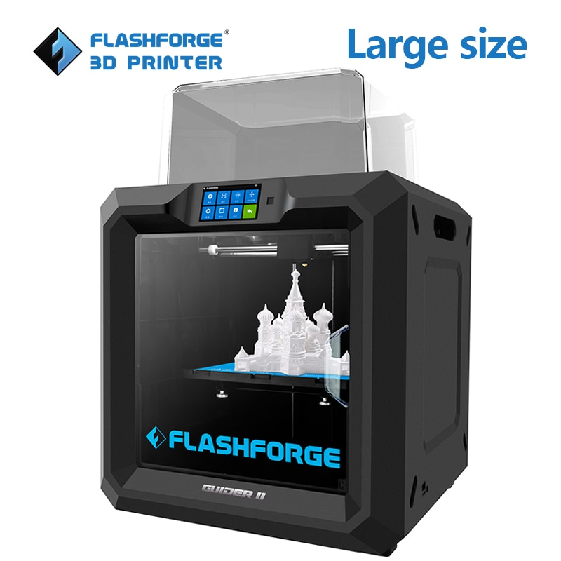Flashforge Guider II 3d принтер объем сборки 280*250*300 мм большой размер 3D принтер заводской выпуск