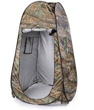 Portable abri Camping douche tente vestiaire salle de toilette Pop Up tente Camouflage extérieur intimité tente imperméable facile ouvert 180T