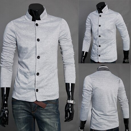 Estilo chino 80s Blazer de manga larga Blazers Slim Fit para hombres chaquetas de hombre de cuello alto Botón de moda dropshipping top coat
