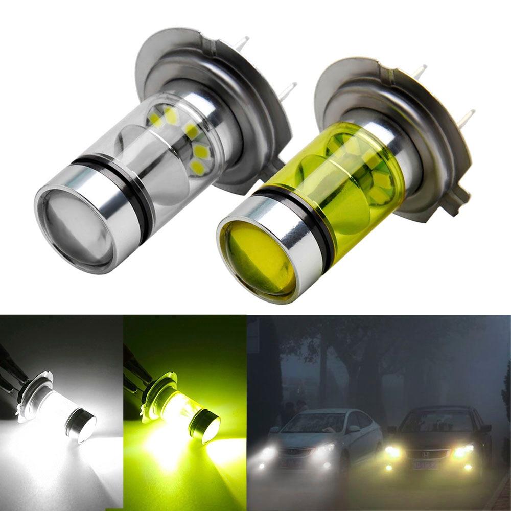 1Pcs H7 LED Bulb Super Bright 20 3030SMD Car Fog Lights 12V 24V White Yellow Driving Day Running Lamp Auto Led H7 Bulb