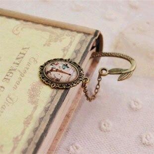 Nouveau Design Vintage en alliage signets pour livre créatif rétro en métal signet fournitures cadeau sirène perlée mode signet