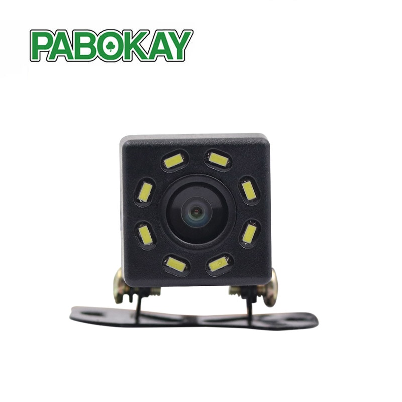 Vista trasera de coche cámara Universal Backup Parking 8 LED de visión nocturna impermeable 170 gran angular HD Color imagen