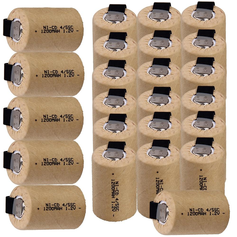 24 Uds 4/5 SC batería 1,2 v 1200mah nicd 4/5 SUBC baterías para herramientas eléctricas destornilladores eléctricos para taladros entrega rápida