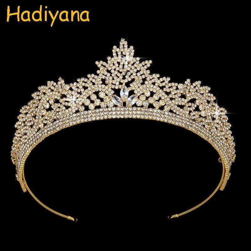 Crowns Hadiyana Women Wedding Gift Fashion Charm Jewelry Tiaras Zircon Luxury Gift BC3846 High Quality Bridal Hair Accessories