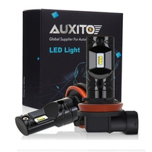 AUXITO 1200LM H8 H11 LED Fog Lights Bulb 12V 9005 9006 H1 H3 H10 PSX24W H16 880 881 Car DRL Lamp For Hyundai Tucson 2017 Ix25