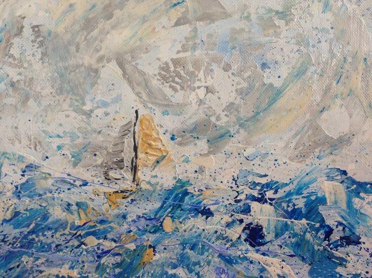Dafen venta al por mayor, nuevo arte, gran venta, pintado a mano de alta calidad, paisaje marino abstracto, pintura al óleo, arte de pared para decoración de oficina