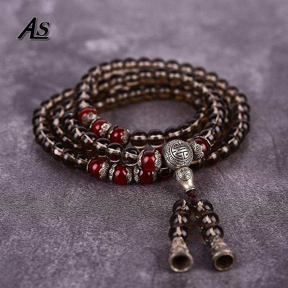 Браслет Будда Asingeloo из тибетского буддиста, рукоделие, натуральный кварцовый камень, для молитвы, браслет Будда из бусин, розари, мужские украшения