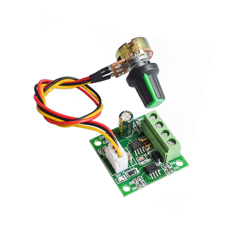 1,8 V 3/5/6/12 V 2A PWM DC Control de velocidad del Motor/w interruptor de potenciómetro