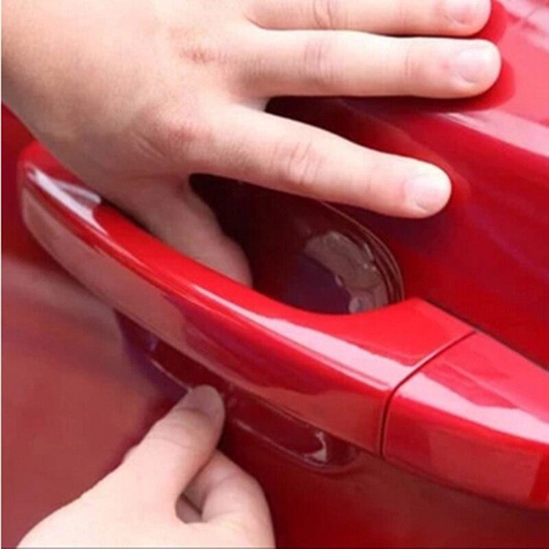 4 uds, pegatinas para coche, manija de puerta de coche, películas protectoras de arañazos para Skoda Octavia A2 A5 A7 Fabia Rapid Superb Yeti Roomster