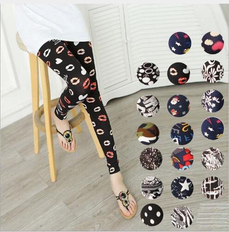 Leggings Venta caliente de las mujeres del cráneo y flor negro mallas con impresiones digitales Pantalones LG01