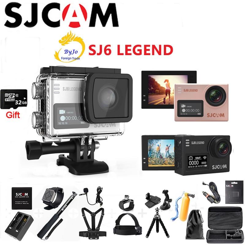 "Original SJCAM SJ6 Legend NTK96660 Sport Action Camera 4K HD 2"" Touch Screen Waterproof  Sports  Action Camera 32G SD card gift"