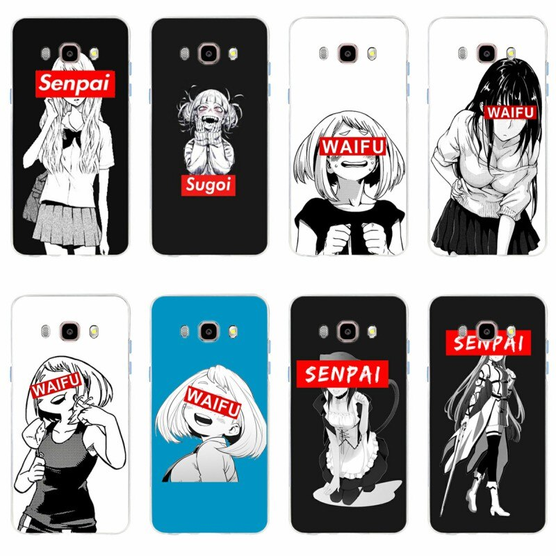 Sugoi Senpai, imagen de waifu de Anime, funda de teléfono móvil para Samsung Galaxy S6 S6edge S6Plus A7 S7edge S8 S9 J5 J7 2016 TPU