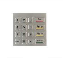 Waterproof vandal-proof 16keys mini stainless steel metal numeric keypad, Rugged number keypad,custom keypad,metal Kiosk keypad