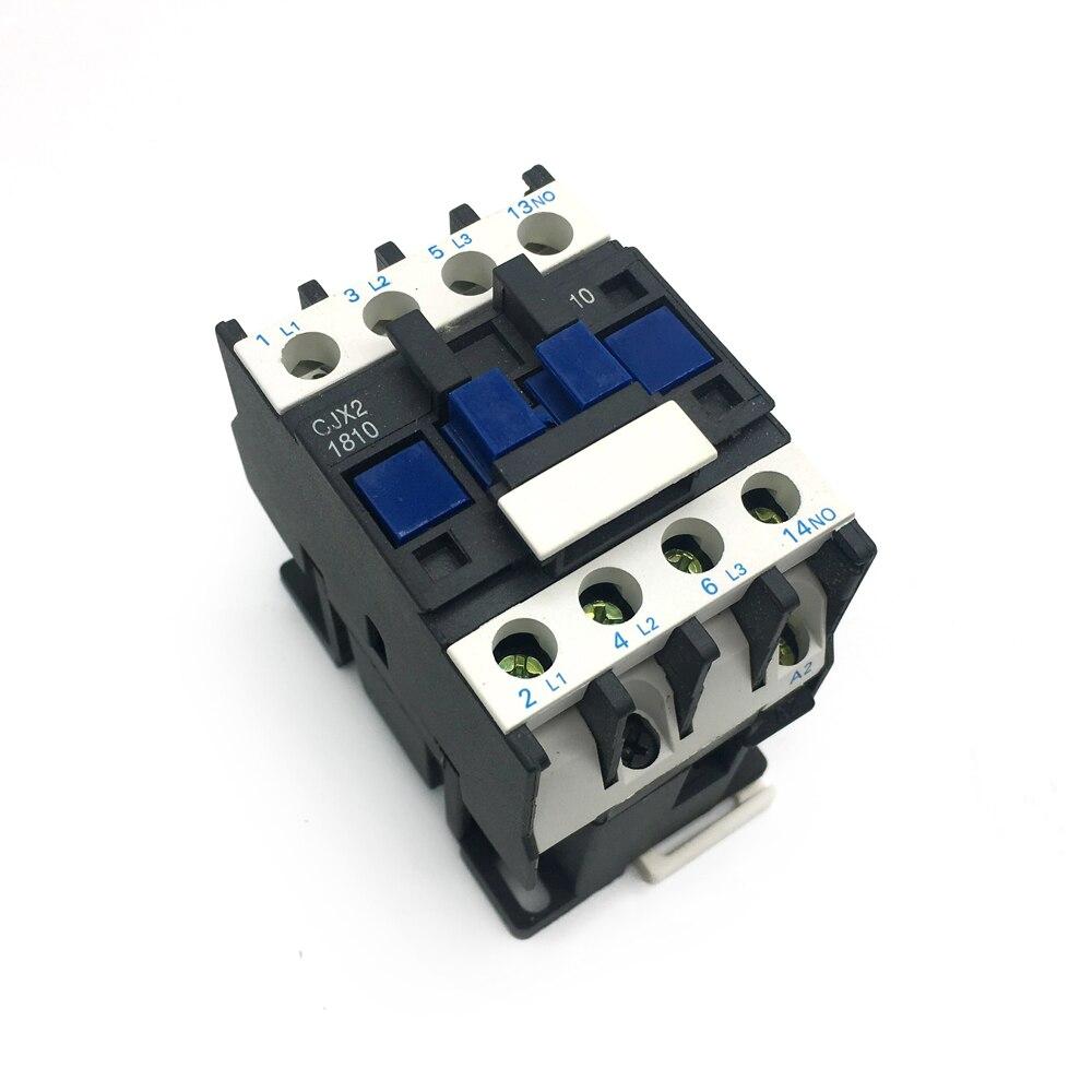 CJX2-1810 lc1 ac contator 16a 3-polo de fase tensão da bobina 380 v 220 v 110 v 36 v 24 v 50/60 hz trilho din montado boa qualidade 2019 novo