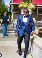 new arrival one button groomsmen shawl lapel groom tuxedos men suits weddingprom best man blazer jacketpantsvesttiea90