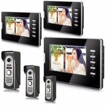 Téléphone portable interphone filaire   Moniteur dintérieur LCD de 7 pouces, alliage 3V3