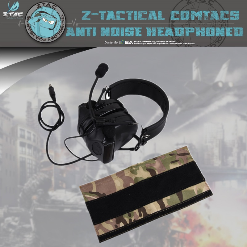 Z-TAC Z044 Softair Aviation Headset Peltor Comtac II Headsets Noise Cancelling Headphone For Shooting