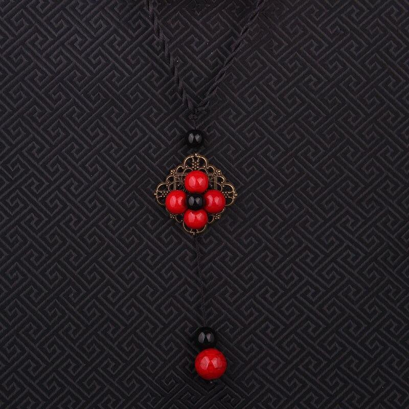 new fashion square nature stones ethnic necklace, vintgae pendants necklace jewelry  handmade braided choker necklace