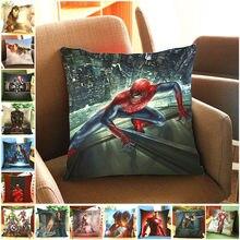 Housse de coussin en velours pour canapé   Avengers Alliance 2 era, couverture de coussin imprimée, couverture de coussin décorative en velours, pour la maison, modèle