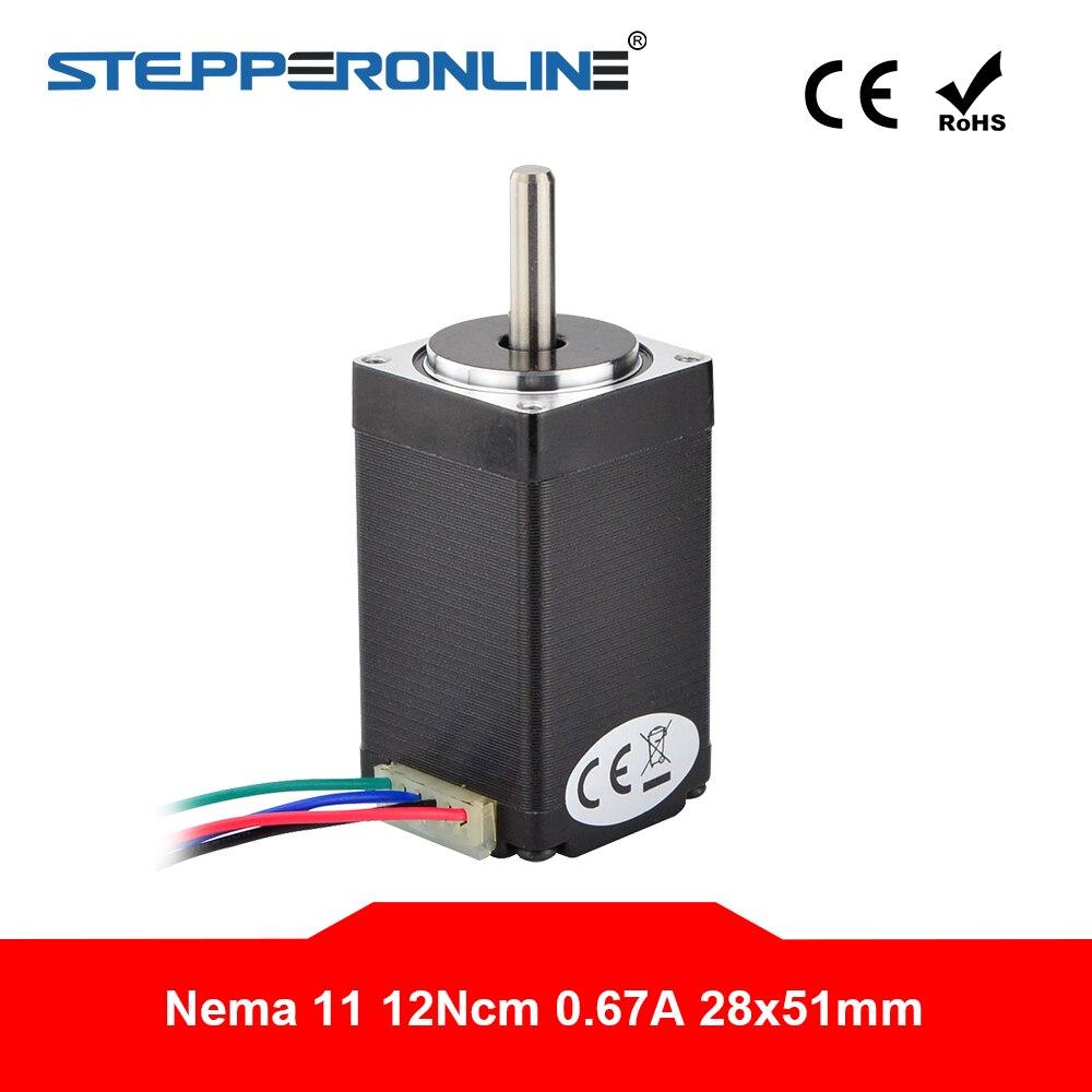 Nema 11 محرك متدرج لطابعة CNC XYZ ثلاثية الأبعاد, 28BYGH 51 مللي متر 0.67A 12Ncm(17 أوقية. in) محرك متدرج 4-lead لطابعة DIY CNC XYZ ثلاثية الأبعاد