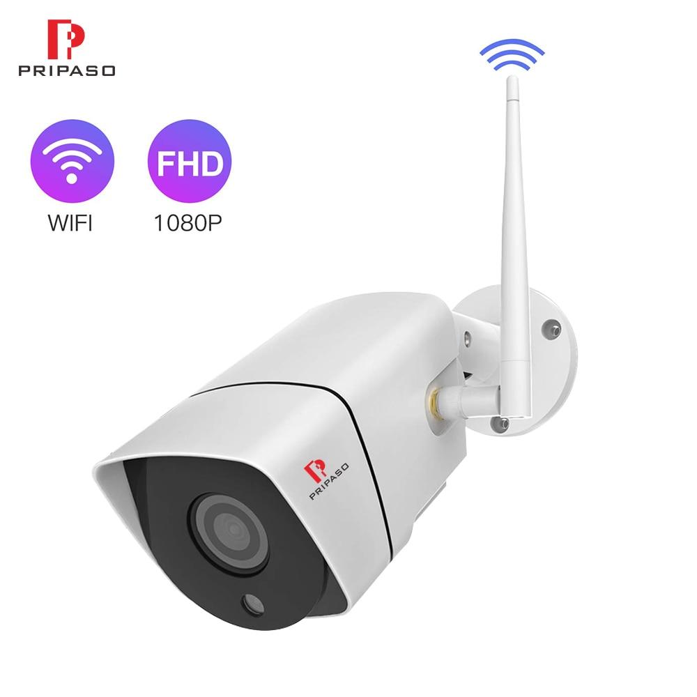 Pripaso-cámara de seguridad exterior WiFi para el hogar, impermeable, 1080P, bala, Camara,...