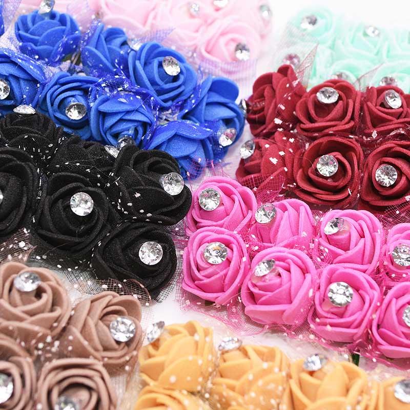 Новый 17 Цвет алмаз искусственные цветы для украшения PE Foamirana Teddy Bear искусственный цветок роза, украшение для свадьбы, дома, украшенные цветам...